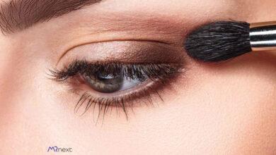 تصویر از آرایش چشم و ابرو (سایه چشم)