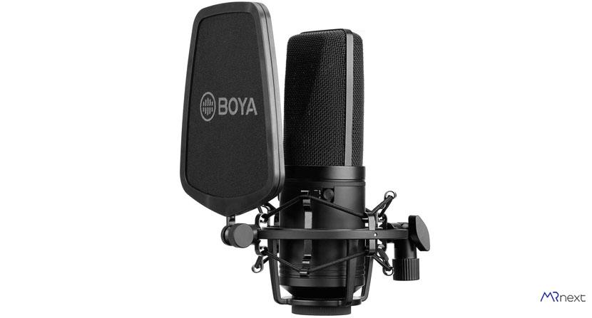 خرید بهترین میکروفون برای ضبط صدا - میکروفون استودیویی بویا مدل BY-M1000